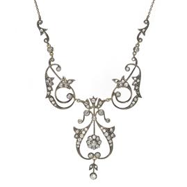 Antique Belle Epoque Diamond Necklace