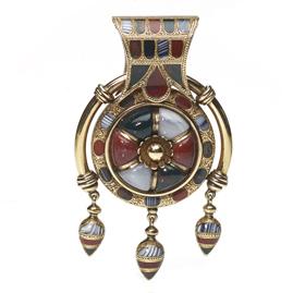Antique Victorian Scottish Agate Gold Locket Pendant