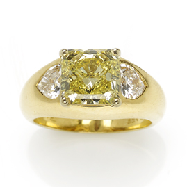 Graff Fancy Vivid Yellow Diamond Ring