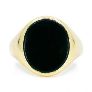 Vintage Onyx Gold Signet Ring