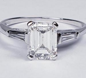 1.42ct Emerald Cut Diamond Solitaire Ring