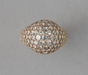 Cartier Vintage Kurt Wayne 3.5ct Diamond Bombe Ring, 18ct Yellow Gold
