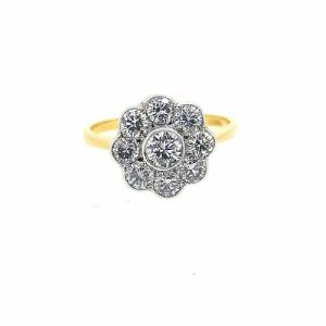 1.25ct Diamond Daisy Floral Cluster Ring