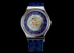 Swatch Tresor Magique Platinum 36mm Automatic Wrist Watch