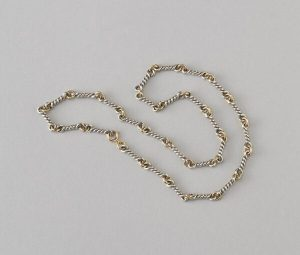 Chaumet Vintage 18ct Yellow Gold and Silver Chain, Circa 1970