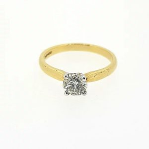0.71ct Solitaire Diamond Engagement Ring in 18ct Yellow Gold