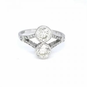 1.60ct Two Stone Diamond Ring in 18ct White Gold