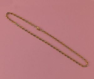 Cartier Vintage Bi-Colour 18ct Gold Coffee Bean Chain, Signed, Numbered