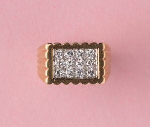 Van Cleef and Arpels Vintage 0.60ct Diamond and 18ct Gold Dress Ring