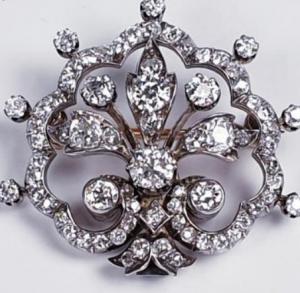 Victorian Antique Diamond Brooch and Tiara Centre Piece