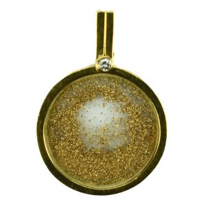 French Gold Dust, Diamond and 18ct Yellow Gold Pendant by Sylvain