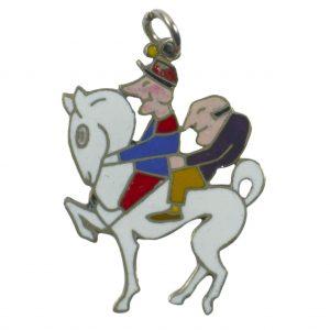 Van Cleef and Arpels Enamel and Platinum Horse Charm Pendant
