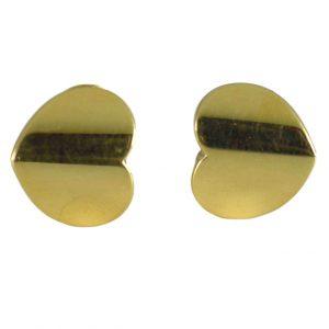 Marina B 18ct Yellow Gold Heart Ear Clip Earrings, Signed
