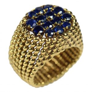 French 2.30ct Sapphire and Gold Dress Ring, Circa 1950