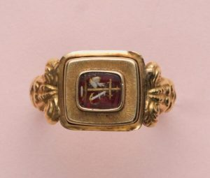 Antique Victorian Hope, Love and Charity Gold Ring