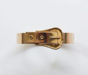 Antique Victorian 18ct Gold Buckle Bracelet
