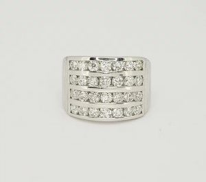 Channel Set Diamond Dress Ring, 2.00 carats