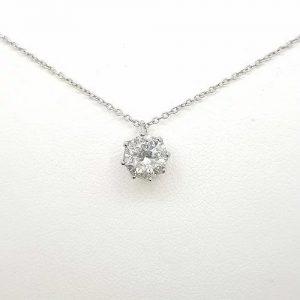 Diamond Solitaire Pendant, 1.10 carats, in 18ct White Gold