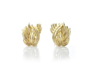 Tiffany and Co Vintage 18ct Yellow Gold Clip On Earrings