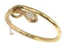 Antique Victorian Diamond, Ruby and Gold Snake Bangle Bracelet