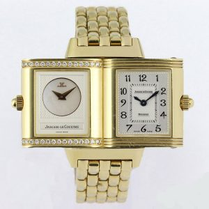 Jaeger LeCoultre Reverso Duetto 18ct Yellow Gold Watch with Box