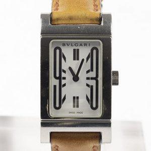 Bvlgari Rettangolo Ladies Stainless Steel Quartz Watch