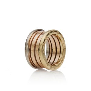 Bvlgari B Zero 18ct White, Yellow and Rose Gold Ring; 18ct tri-colour gold ring, comes with original box.Made in Italy, Circa 1990s