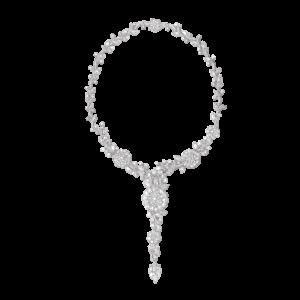 Opulent Diamond Floral Cluster Necklace, 48.44 carat total