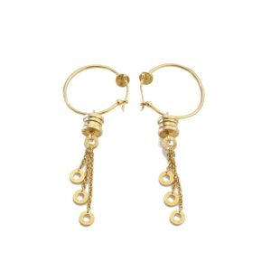Bvlgari Vintage 18ct Yellow Gold Drop Earrings; Bulgari ladies 18ct yellow gold earrings. Fully hallmarked. Made in Italy, Circa 1990s