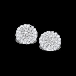 Rose Cut Diamond Cluster Earrings, 9.45 carats
