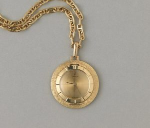 Cartier Vintage 18ct Yellow Gold Pocket Pendant Watch by Corum
