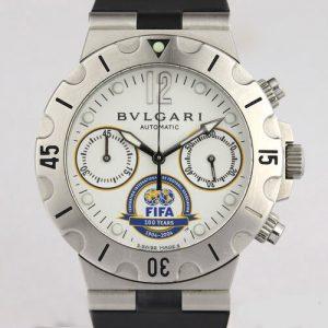 Bvlgari Diagono Fifa Limited Edition 38mm Steel Automatic Chronograph