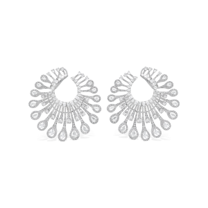Rose Cut Diamond Earrings, 7.38 carats, in 18ct White Gold