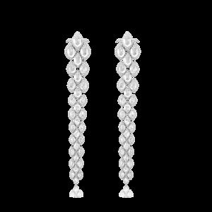 Contemporary Rose Cut Diamond Drop Earrings, 17.20 carats