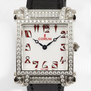 Corum Tabogan 18ct White Gold Watch with Diamond Bezel