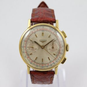 Longines Vintage Chronograph 18ct Yellow Gold 36mm Manual Watch
