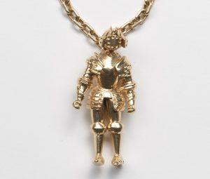 Vintage Gold Knight Keychain