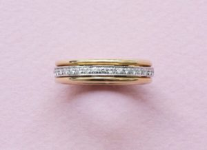 Diamond and 18ct Yellow Gold Spinning Full Eternity Ring