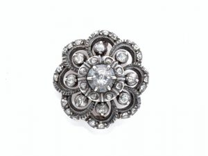 Antique Dutch Rose Cut Diamond Brooch