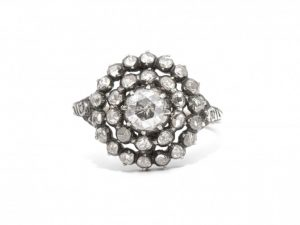 Antique Early Victorian Rose Cut Diamond Ring