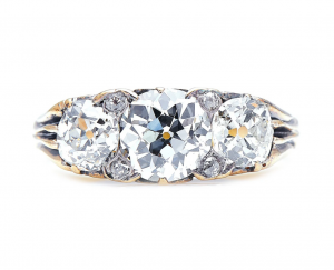 Antique Victorian 1.75ct Diamond Three Stone Ring