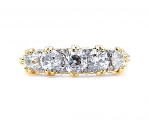 Antique Victorian 1.90ct Diamond Five Stone Ring
