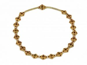 Antique Victorian Garnet Gold Collar Necklace