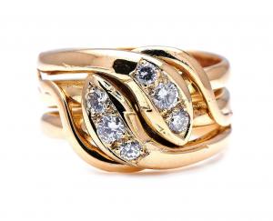 Victorian Antique 0.50ct Diamond Snake Ring