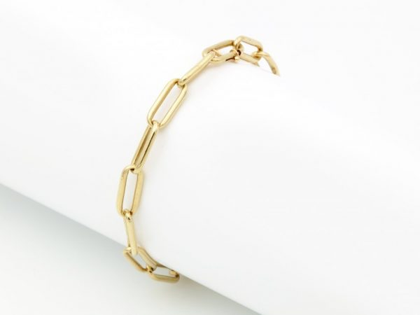 Vintage 14ct Yellow Gold Link Bracelet, Circa 1975