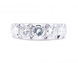 Vintage 2.50ct Diamond Half Eternity Ring
