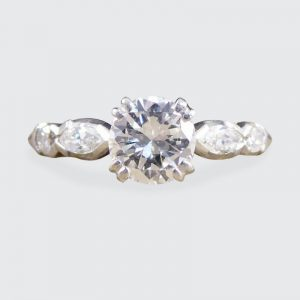 Vintage Diamond Solitaire Engagement Ring, 0.85ct