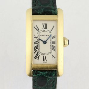 Cartier Tank Americaine 18ct Yellow Gold Ladies Watch