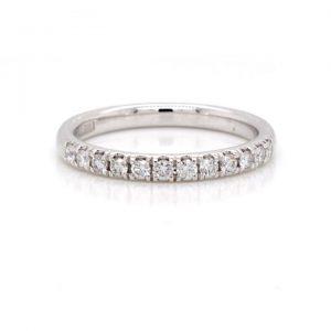 Diamond Half Eternity Ring in Platinum, 0.33 carats