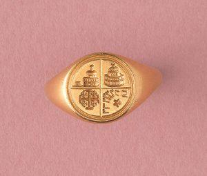 Jerusalem 18ct Yellow Gold Signet Ring